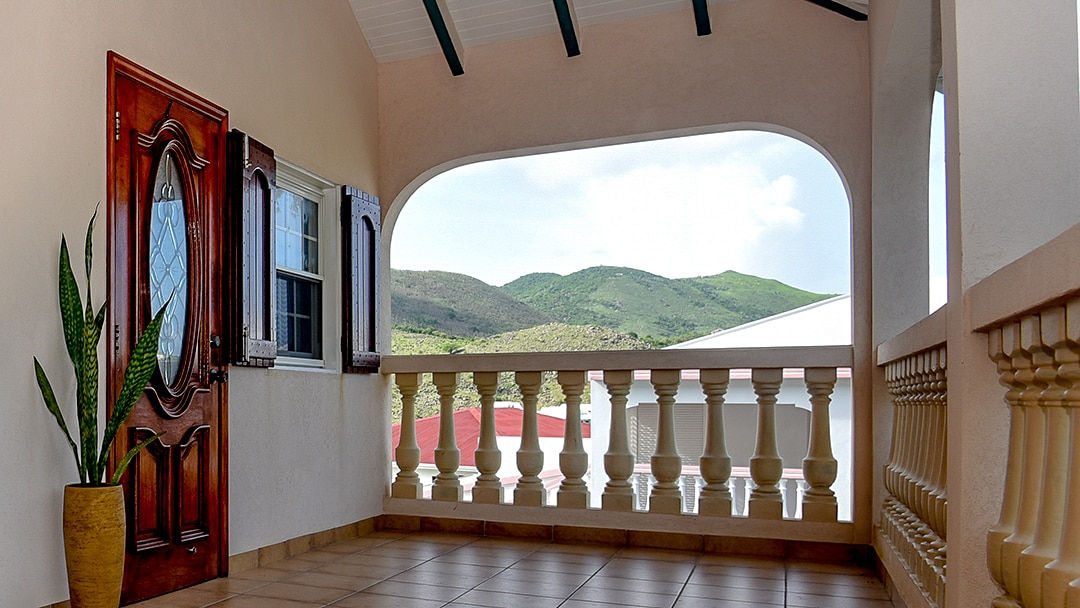 Saint Martin Vacation Rentals Front Balcony View